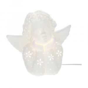 lampada angelo porcellana traforata Hervit