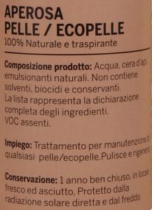 APEROSA PELLE E ECOPELLE - pulizia e manutenzione - 25cl