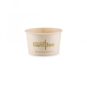 Coppette gelato in Bamboo compostabile 80cc