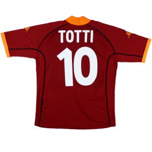 2001-02 Roma Maglia #10 Totti Home L