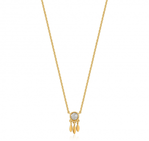 Gold Midnight Fringe Necklace