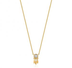 Gold Midnight Fringe Necklace
