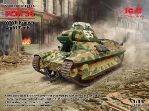 WWII French Light Tank FCM 36