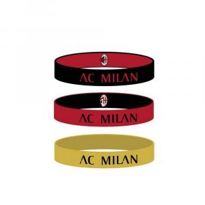 Tris braccialetti in silicone Milan