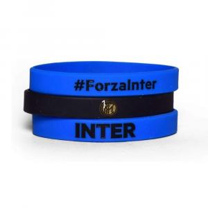 Tris braccialetti in silicone Inter