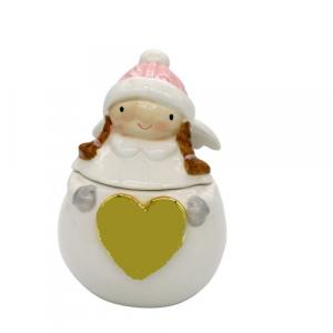 Barattolo ceramica angelo porta cioccolatini regalo Natale