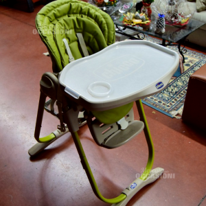 High Chair Pappa Green And Beige Chicco