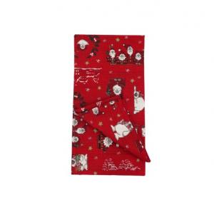 Tovaglia centro tavola 90x90 rossa