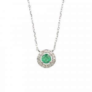 Collana Smeraldo e Diamanti