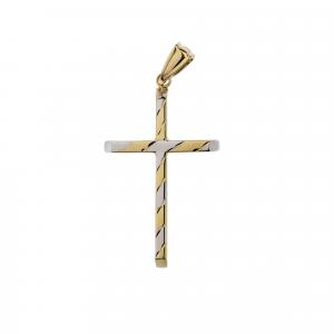 Ciondolo Croce Oro 18kt