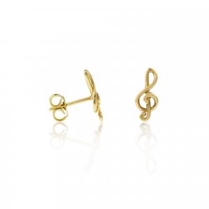 Orecchini Chiave di Violino Oro18kt