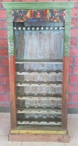 Libreria - Cantinetta porta-vino in legno di teak recuperato