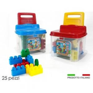 General Trade Sedia Con 25 pezzi Costruzioni, Giocattolo per Bambini regalo per Natale, Gioco Istruttivo