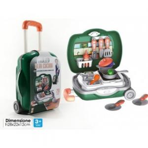 General Trade Giocattolo Per Bambini Trolley Alta Cucini con 20pz Accessori