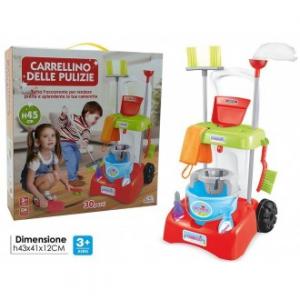 General Trade Carrellino Delle Pulizie Colorato Per Bambini Giocattolo