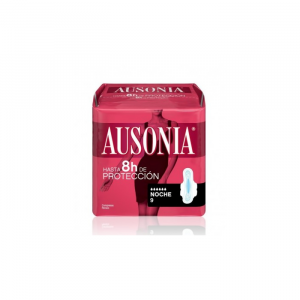 Ausonia Night With Wings Sanitary Towels 9 Units