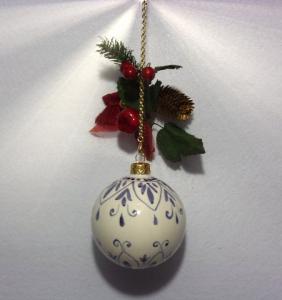 Pallina decorata blu