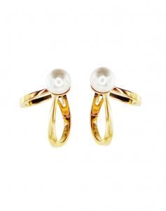 Orecchini in oro giallo con perle Akoya