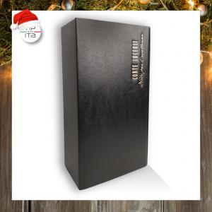 Scatola doppia Nera set regalo - con logo Corte Luceoli - h10x19x34cm