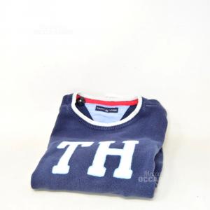 Sweater Boy Tommy Hilfiger Blue Size.10 Years 140 Cm