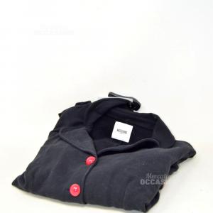 Jacket Baby Girl Moschino Teen Black Bottoni Red 12 Years
