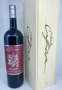 Bottiglia Magnum 1,5 L con cassetta in legno Solcanto Nero d'Avola Alcamo DOP 2015