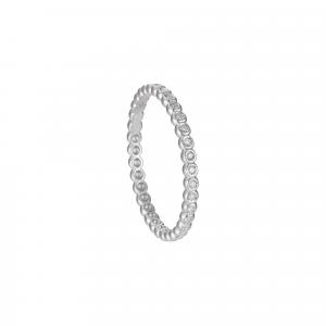 Anello Eternity Diamanti ct.0,10