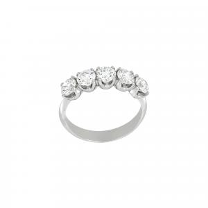 Anello Fedina Diamanti ct.0,45