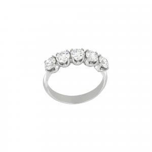 Anello Fedina Diamanti ct.0,65