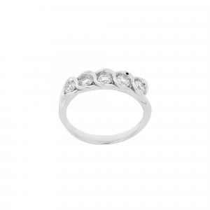 Anello Fedina Diamanti ct.0,40