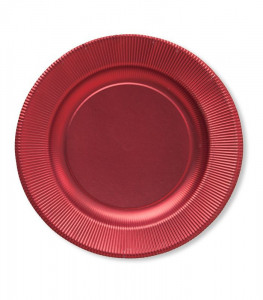 Sottopiatto Righe in cartoncino Rosso Satinato