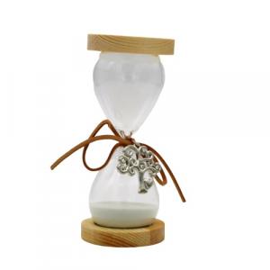 Clessidra vetro albero della vita con frase