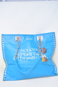 Borsa Pandorine Azzurra Nobody Is Perfect..but I'm Pretty Close