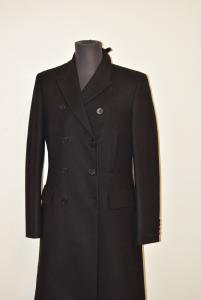 Coat Man Black Calvin Klein Jeans Original In Wool Size 56