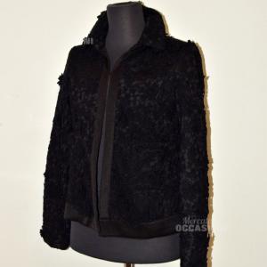 Jacket Woman Twin Set Black Pizzo Size S