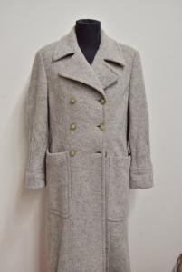 Coat Woman Prada Original Gray Light 50% Cotton 45% Alpaca