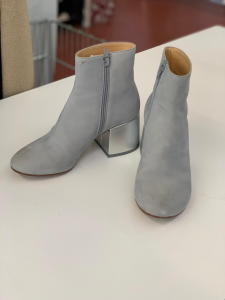 Ankle Boot Woman Silver Mm 6 Original N°.39 (available Only Online)