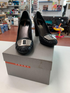 Shoes Woman Prada Heel Largo With Buckle N°.40 (available Only Online)