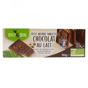 PETIT BEURRE CHOCOLAT LAIT 150 GR BIOALBON