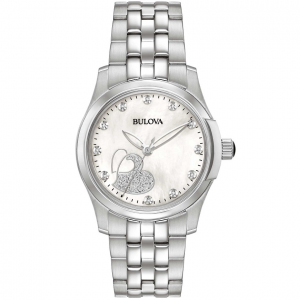 Bulova Orologio Classic Diamonds, Quadrante Madreperla con Cuori e Diamanti