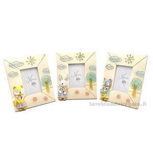 Portafoto con Animali in resina 11x13 cm - Bomboniera battesimo e comunione