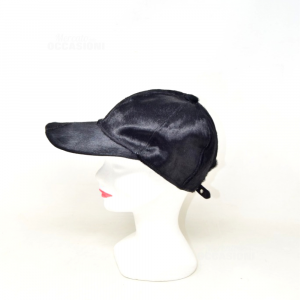 Hat Leather And Hair Black Prada
