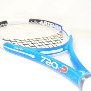 Racchetta Tennis Artengo Graphite 720 20-24kg Azzurra Bianca Nuova