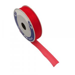 Nastro in organza 25mm rosso