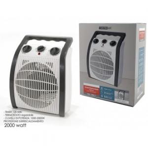 General Trade Termoventilatore Con Timer 120 Min Riscaldare 2000 Watt Termostato Regolabile
