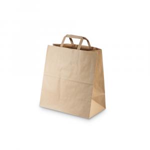 Shopper carta riciclata 90gr fondo largo per asporto 32x16x27 cm