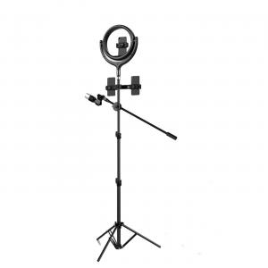 Ring light kit con treppiede professionale 12 pollici nero