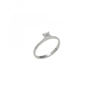 Anello Solitario con diamante ct. 0,25 F VS