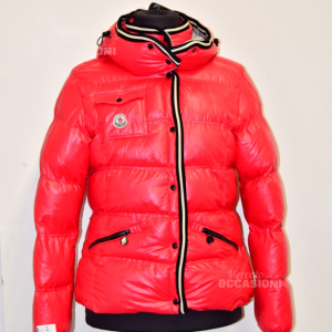 Duvet Woman Moncler Original Red Size 2 Defect Manica