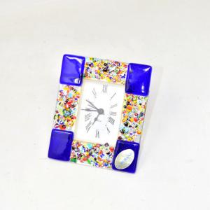 Orologio Vetro Di Murano 12x10 Cm